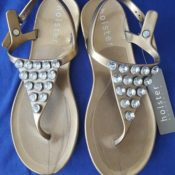 05856f67e38ddb NWT Holster Australia Jelly Glam Summer Sandal